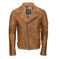 mens real leather biker jacket motorcycle vintage antique