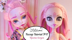 makeup tutorial for or cosplay kittiesmama you faceup tutorial 17 ooak viperine gorgon repaint monster high custom doll