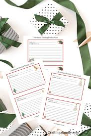 Christmas Recipe Card Free Christmas Recipe Cards Sharing Family Traditions Crafting A