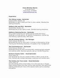 49 Lovely Bartender Resume Sample Awesome Resume Example Awesome