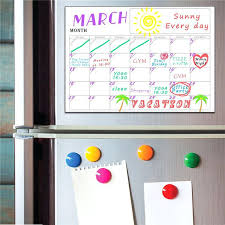 magnetic wall calendar magnetic dry erase refrigerator calendar week monthly white board wall sticker chart grocery list kitchen magnetic mini wall calendar