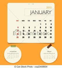Template Monthly Calendar 2015 2015 Calendar Monthly Calendar Template For January Vector Ill