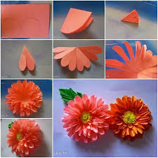 Making Of Flower With Paper Paper Flower Tissue Paper Flowers Paper Dahlia Paper