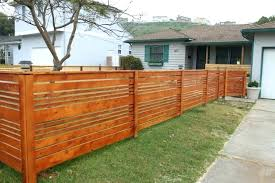 Modern Backyard Fences Modern Horizontal Fence How To Build A