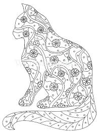 Coloring Cat Pages Free Printable Cat Coloring Pages Cat Color Page