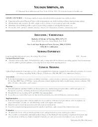 Graduate Nurse Resume Templates Nursing Resume Samples For New