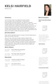 Event Planning Resume Samples Visualcv Resume Samples Database
