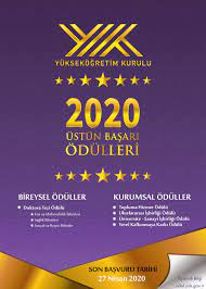 YÖK Üstün Başarı Ödülleri Başvuruları 2020