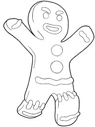 Shrek Gingerbread Man Coloring Pages Color Bros
