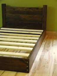 Wood Bed Frame With Headboard Platform Bed Twin Bed Low Profile Bed ...