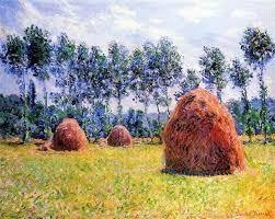 haystacks at giverny claude monet