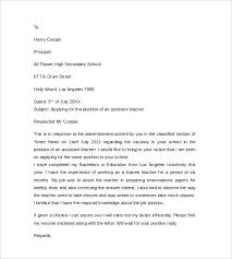 Instructor Cover Letter Sample Teachers Application Letter Best