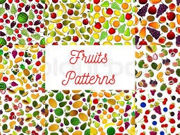 Topical Pattern Gorgeous Patterns Set Of Fresh Ripe Fruits And Berries Vector Pattern Of