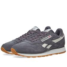 reebok men s gray classic leather suede