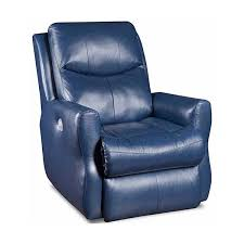 blue leather recliner chair navy blue leather