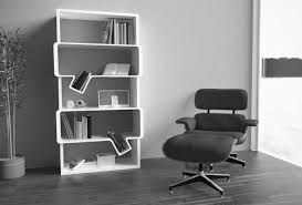 home office wall shelving. Astounding White Modern Open Bookshelves Inspiration As Wall Shelves Added Relaxing Chairs On Fake Wood Floors In Home Office Furniture Ideas Shelving I