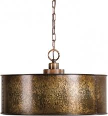 outstanding uttermost 22066 wolcott vintage golden galvanized drum hanging galvanized pendant light fixture