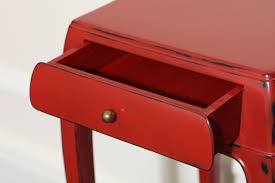 red lacquered furniture. red lacquered end tables jean dunand mid century design furniture