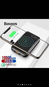 Pin dự phòng tích hợp sạc nhanh không dây Baseus Mini Power Bank 10.000mAh  – Pham Binh PK