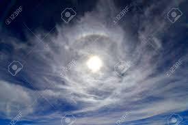 Light Around The Sun Weather Phenomenon Ring Of Light Around The Sun