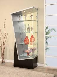 Crystal glass display cabinet