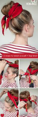 Topknot Hair Style top 10 simple ways to style your bandana scarves scarf bun and 3858 by wearticles.com