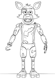 Fnaf Coloring Pages Bonnie Toy Foxy Printable Five Nights At Freddy