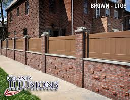 Small Picture Where can I get brown vinyl privacy fence Brick fence Bricks
