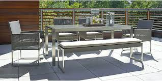 crate outdoor furniture.  Furniture Crate And Barrel Outdoor Furniture Dune Dining Collection A  Teak Patio Throughout