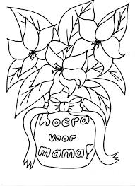 Kleurennu Boeket Voor Mama Kleurplaten With Regard To Kleurplaat