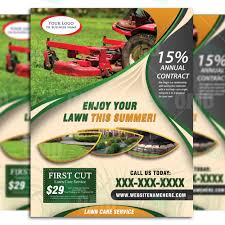 Lawn Care Brochure Lawn Care Flyer Design 9 The Lawn Market