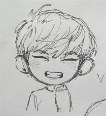 Taehyung drawing tutorial step by step for beginners youtube drawing tutorial easy sketches for beginners bts drawings Bts Chibi Drawings Easy Milye Risunki Eskizy Personazhej Illyustracii