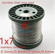 100M/Roll 1X7 Structure AISI 304 0.3Mm 0.4Mm 0.5 ... - Amazon.com