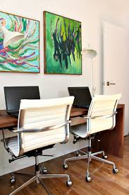 Modern office look Cite Colorful Midcentury Modern Inspired Home Office Makeover Before After Apcconcept Home Office Makeover With Colorful Midcentury Modern Inspired