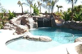 backyard pool with slides. Plain Pool Backyard Pool Slide Large Grotto And Diving Board Hot Tubs  Bar Stool Best   On Backyard Pool With Slides O