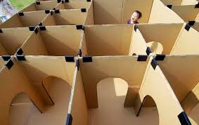 Homemade Wooden Games Cardboard labyrinth It's as simple to make as it looks cut doors 56