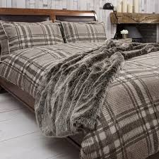 kilburn and scott harris natural rustic check duvet set