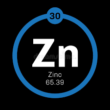 Zinc chemical element stock image. Image of periods, education ...