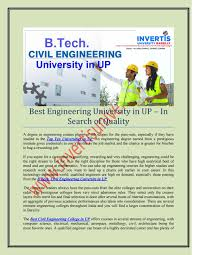 B tech civil engineering university in up by storm dead - issuu