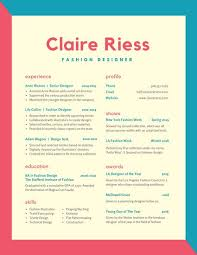 Colorful Resume Templates