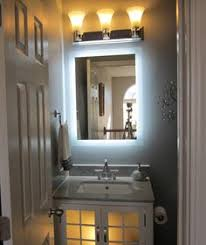 side lighted led bathroom vanity mirror 24 x 32 rectangular wall mounted