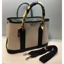 garden party hermes. Hermes Garden Party Bag 30cm Canvas/Leather In Black