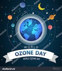 Ozone Design World International Ozone Day Vector Design Stock Vector