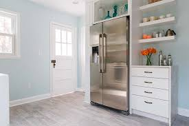 electrolux refrigerator thomasville drawers and floating shelves in a newly remodeled kitchen