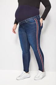 Plus Size Bump It Up Maternity Blue Super Stretch Denim