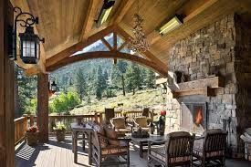 fireplace mantel extension for tv beautiful shelf deck rustic wood panel ceiling outdoor covered patio roof
