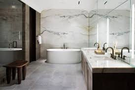 White Modern Master Bathroom