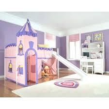 bunk bed with slide and tent. Twin Loft Bed With Slide Princess Castle Beds . Bunk And Tent