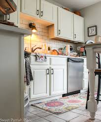 White Painted Kitchen Cabinets Sweet Parrish Place