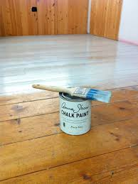 diy how to paint and lacquer a wood floor with annie sloan s s a salon owner painted her busy salon floors with paris grey and sealed it with